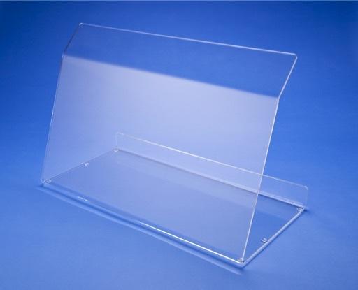Spuckschutz aus Acrylglas für den Einsatz auf Theken oder Verkaufstresen.