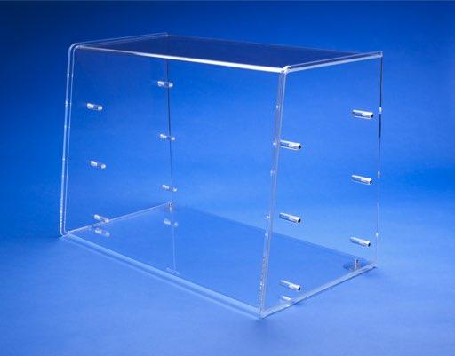 3-Etagen Plexyglas Vitrine. Für den Einsatz auf Theken oder Verkaufstresen.