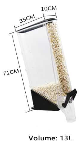 Schmaler Schwerkraftspender 13 liter.