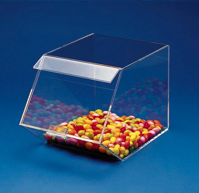 Candybox mit Klappdeckel Transparent