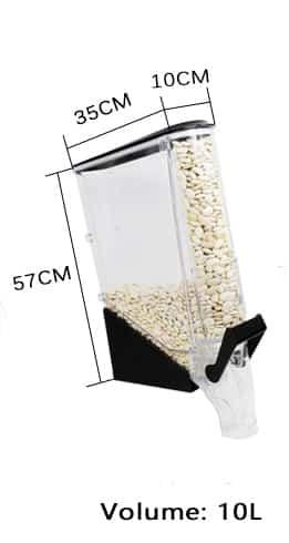 Schmaler Schwerkraftspender 10 liter.