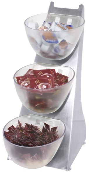 Bonbonschalen auf Edelstahlhalterung 1 Liter pro Schale.